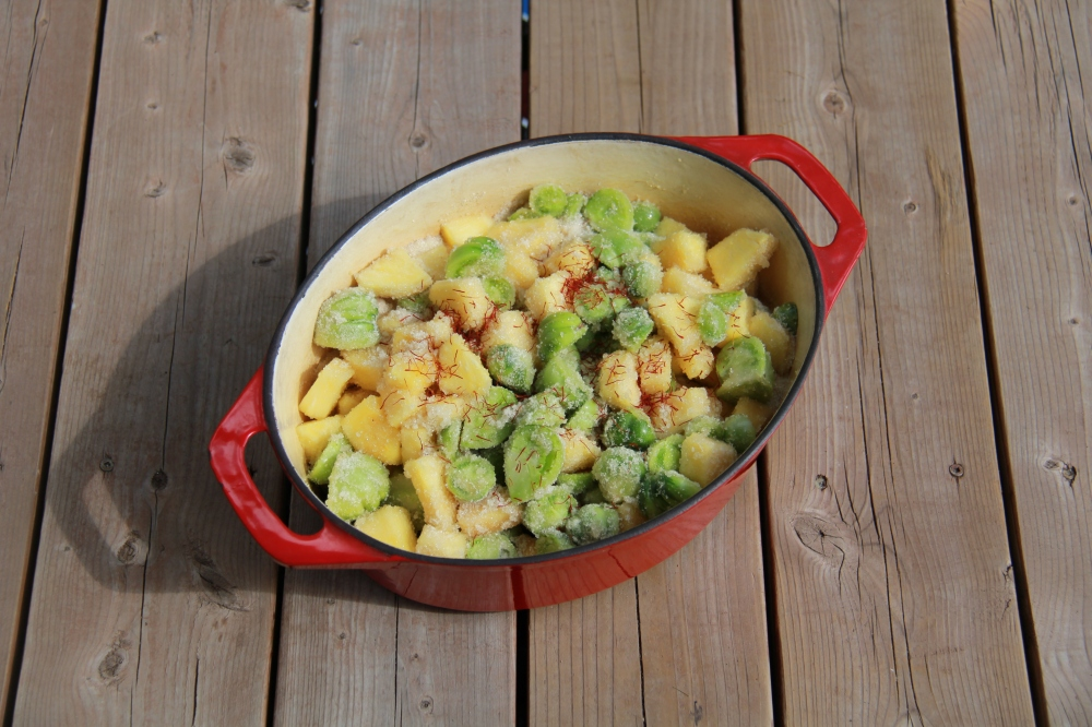 Confiture de tomates vertes et ananas au safran